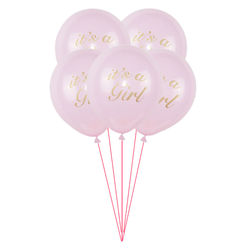 10pcs 10 inch It Is a Girl/Boy Latex Balloons Kids Birthday Decoration Pink Blue Air Ballon Happy Birthay Balloon Baby Shower ...