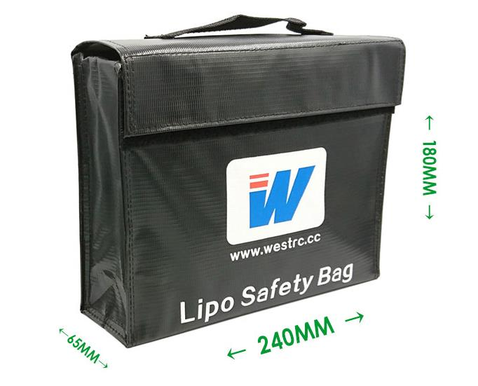 LiPo Guard Lipo Battery Safety Bag Explosion proof Anti explosion Fireproof Safe Bag Big Size 240*180*65