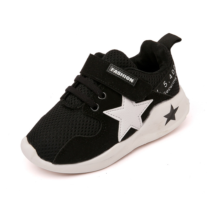2017 New Style Baby Girls Boys Casual Shoes Breathable Mesh Fabric Children Shoes Star Outdoor Comfortable