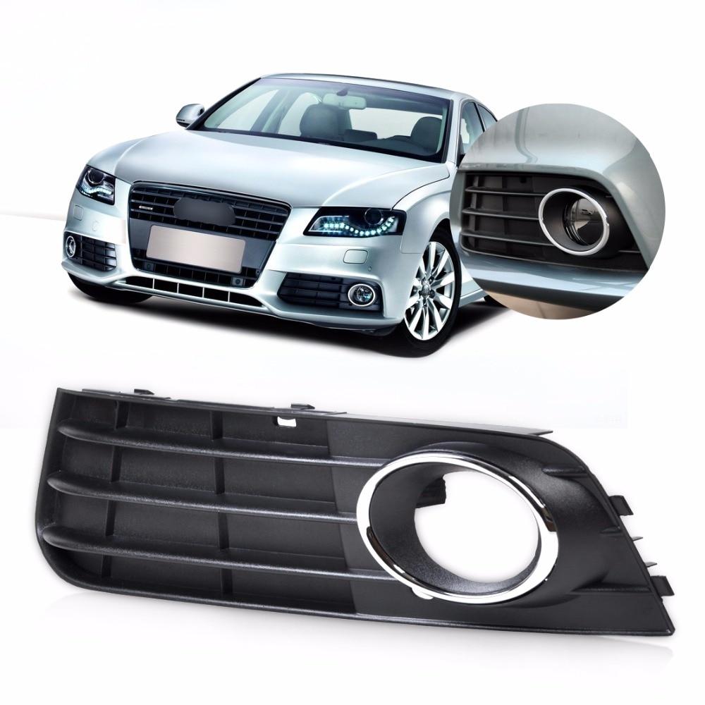 DWCX 8K0807681A01C Front Left Bumper Fog Light Lamp Cover Grille For Audi A4 B8 2008 2009 2010 2011 2012 fog light grill for audi a4 s line s4 2013 2014 2015 front bumper grille foglamp cover left