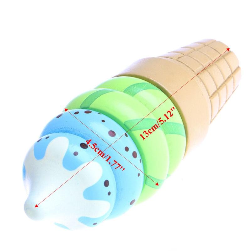 Comida de madera Magnetic juego de imaginación Connected Ice Cream - Juguetes clásicos - foto 6