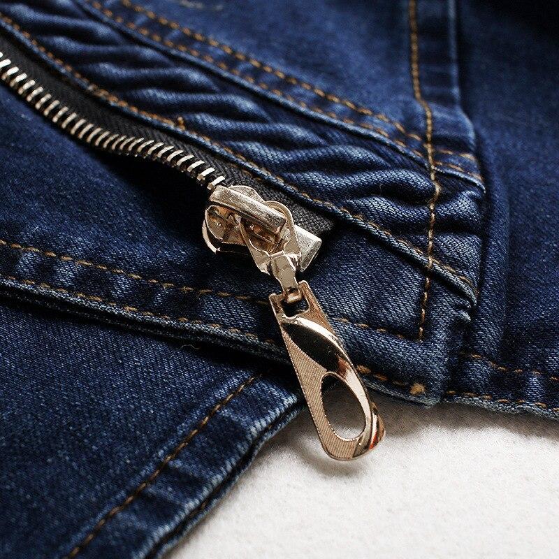 Femelle Style Qualité Chaqueta Plus Denim Haute Veste Stretch Manteaux La Zipper 2018 Bleu Taille Femmes Moteur Bomber 4xl qU4Sw