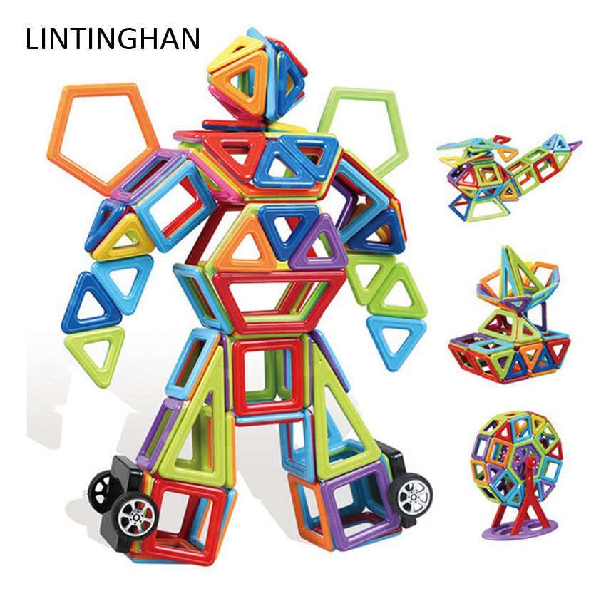 Construction Piece Magnetic Building Blocks To Build Children's Educational Toys Magnet Suits The Color Window Building Block