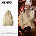 Youth Autumn Fleece Hood with Front Pocket 2016 F/W Male hip hop Sweatshirts HEYBIG men Tracksuits Chinese SIZING