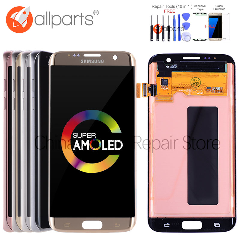 5.5 ORIGINAL AMOLED Display For SAMSUNG Galaxy S7 Edge LCD Touch Screen with Frame For SASMSUNG S7 Edge Screen Replacement