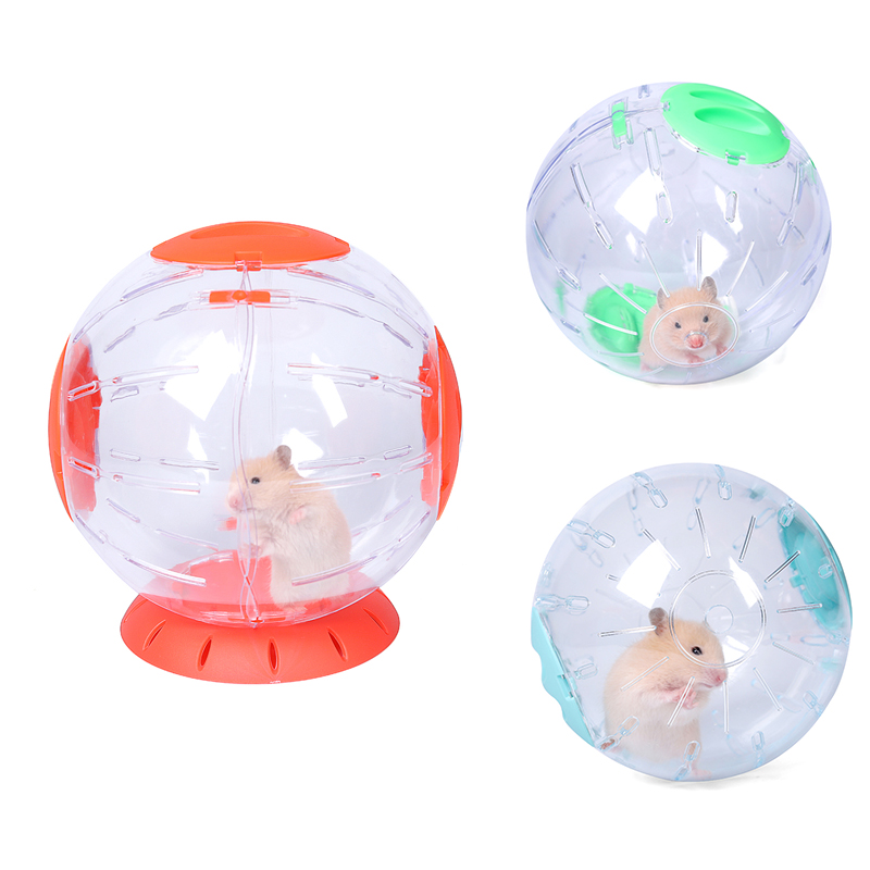 New Can Connect Small Pet Run The Ball Toy Home Hamster Transparent Running Ball 14/16/20cm Jogging Pets Chinchilla Guinea Pig