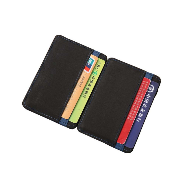 New Sale Vintage Men Creative Style PU Leather Men Wallet High Quality Unique color matching Purse D1053-7