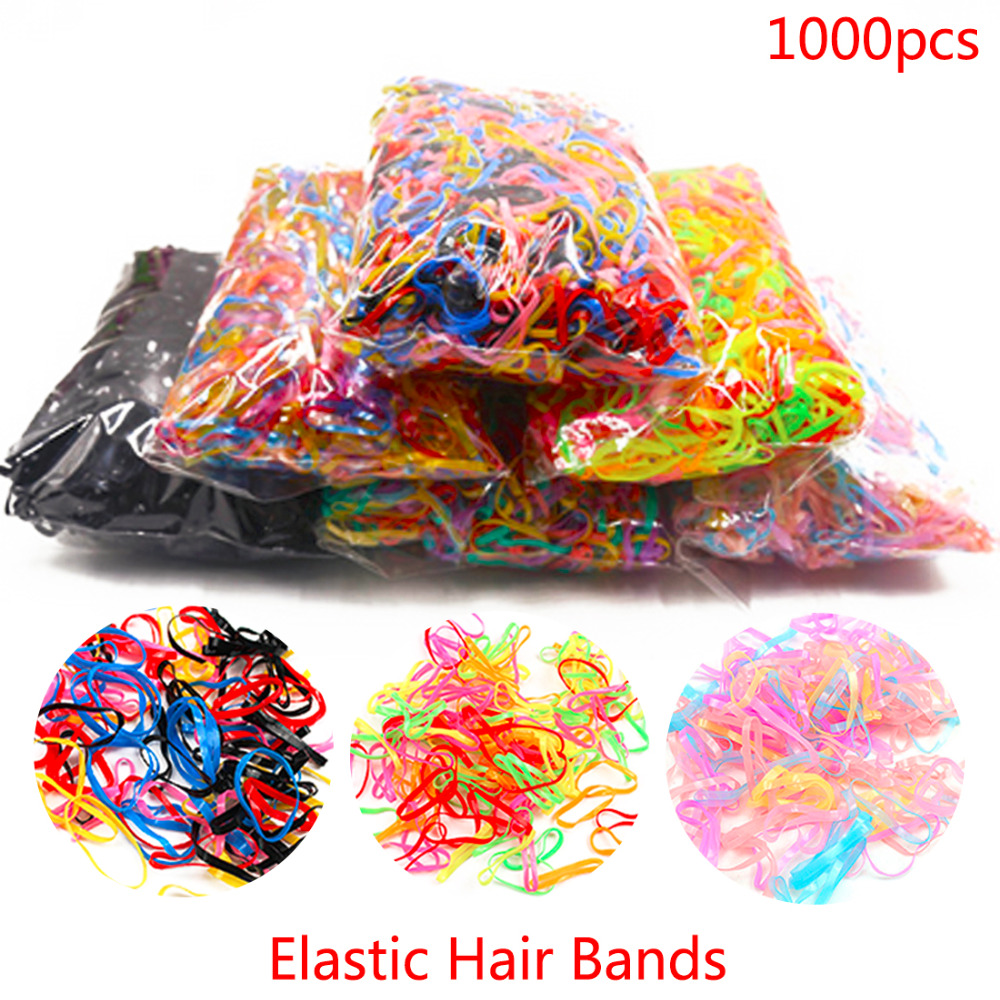Women About 1000pcs/pack Rubber Hair Bands Rope Silicone Ponytail Tpu Hair Holders Elastic Tie Gum For Girls Hair Accessories lnrrabc women imitation pearls butterfly hair rope charm crystal rubber headband ponytail gum elastic hair bands headband gift