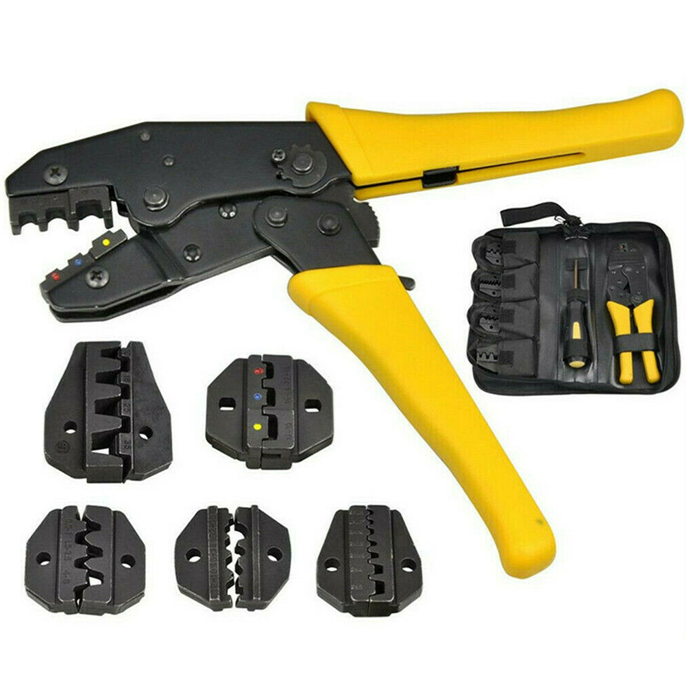 Cutter Durable Ratchet Plier Cable Wire Multifunctional Energy Saving Metal Crimping Tool Set Compression Screw Driver Manual