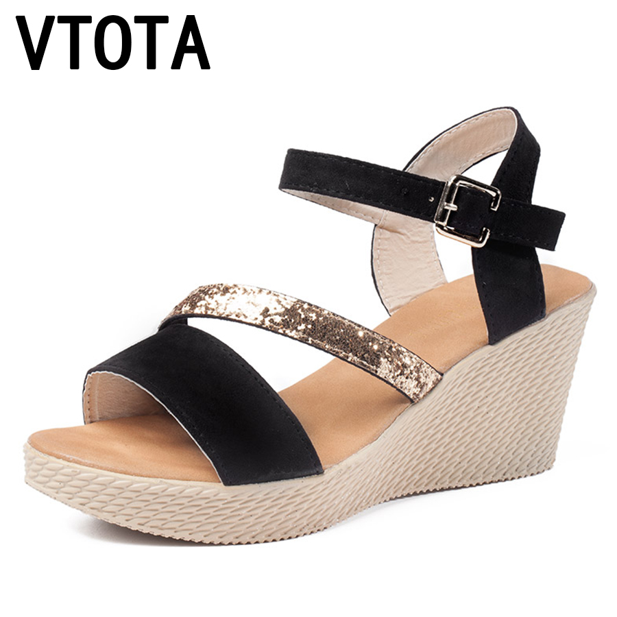 VTOTA Sandalias Plataforma 2017 Shoes Woman New Bling Casual Open Toe Gladiator Shoes Women zapatillas mujer Wedges Sandals B11 phyanic 2017 gladiator sandals gold silver shoes woman summer platform wedges glitters creepers casual women shoes phy3323
