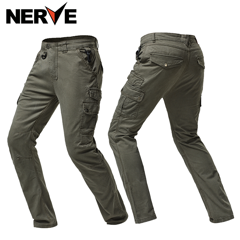 NERVE Motorcycle Riding Jeans Men's Locomotive Racing Casual Pants Summer Shatter-resistant Kevlar Pants