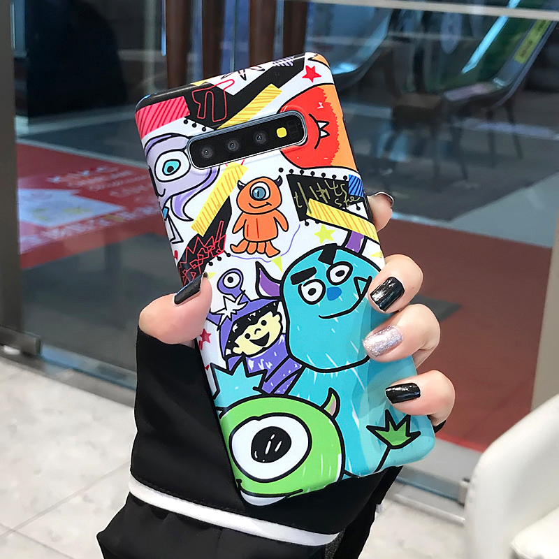 YHBBCASES Cartoon Phone Case For Samsung Note 10 Plus 8 9 Funny Lovely Monsters Soft IMD Cover For Samsung Galaxy S10 S8 S9 Plus