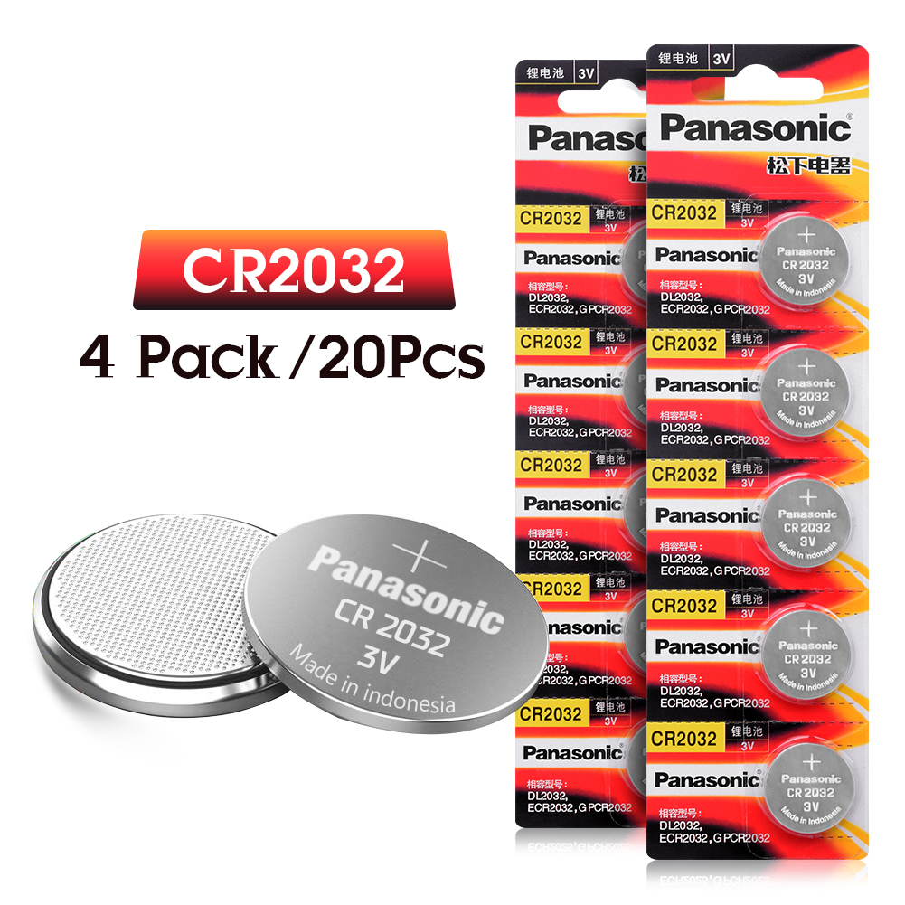 PANASONIC 20pcs cr2032 DL2032 ECR2032 5004LC KCR2032 BR2032 3v button cell coin lithium batteries for watch car toyPANASONIC 20pcs cr2032 DL2032 ECR2032 5004LC KCR2032 BR2032 3v button cell coin lithium batteries for watch car toy
