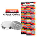 PANASONIC 20pcs original cr2032 DL2032 ECR2032 5004LC KCR2032 BR2032 3v button cell coin lithium batteries for watch car toy