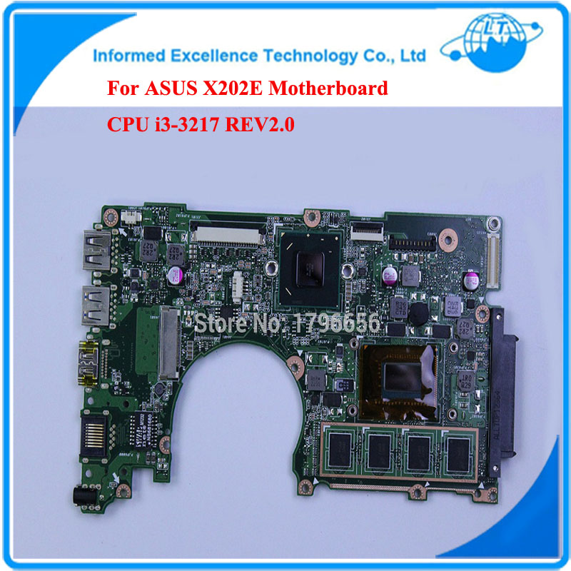 For ASUS X202E Q200E Motherboard CPU i3-3217 REV2.0 Integrated 4GB Ram Fully Tested Main Board g41 motherboard fully integrated core 775 cpu ddr3 ram belt 4 vxd ide usb 100% tested perfect quality