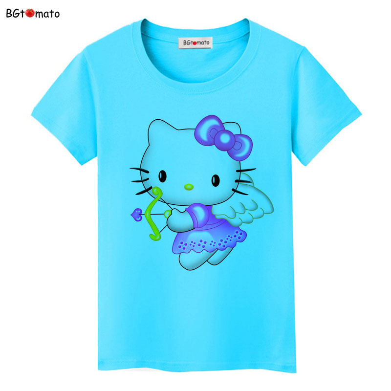 78be9f2de2e4 ... BGtomato Hello Kitty lovely cartoon T-shirts women summer cool clothes  Brand Good quality tops ...