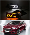 White/Ice Blue LED Daytime Running Lights DRL Fog Lamp Cover With Yellow Turn Light For Ford Fusion MONDEO 2013 2014 2015 2016