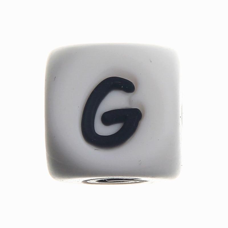 20 Pcs Silicone Alphabet Lettre G Chewing Perles de Qualité Alimentaire  SANS BPA FDA Bébé de Dentition Collier   Sucette Clip Silicone Perles ebf1168594c