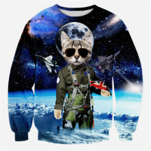 Top Gun Cat 3D Sweatshirt