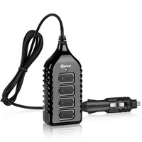 Car Usb Charger Socket Outlet With Dual Usb Auto Led Plastic Abs Mini 12v T10 Socket