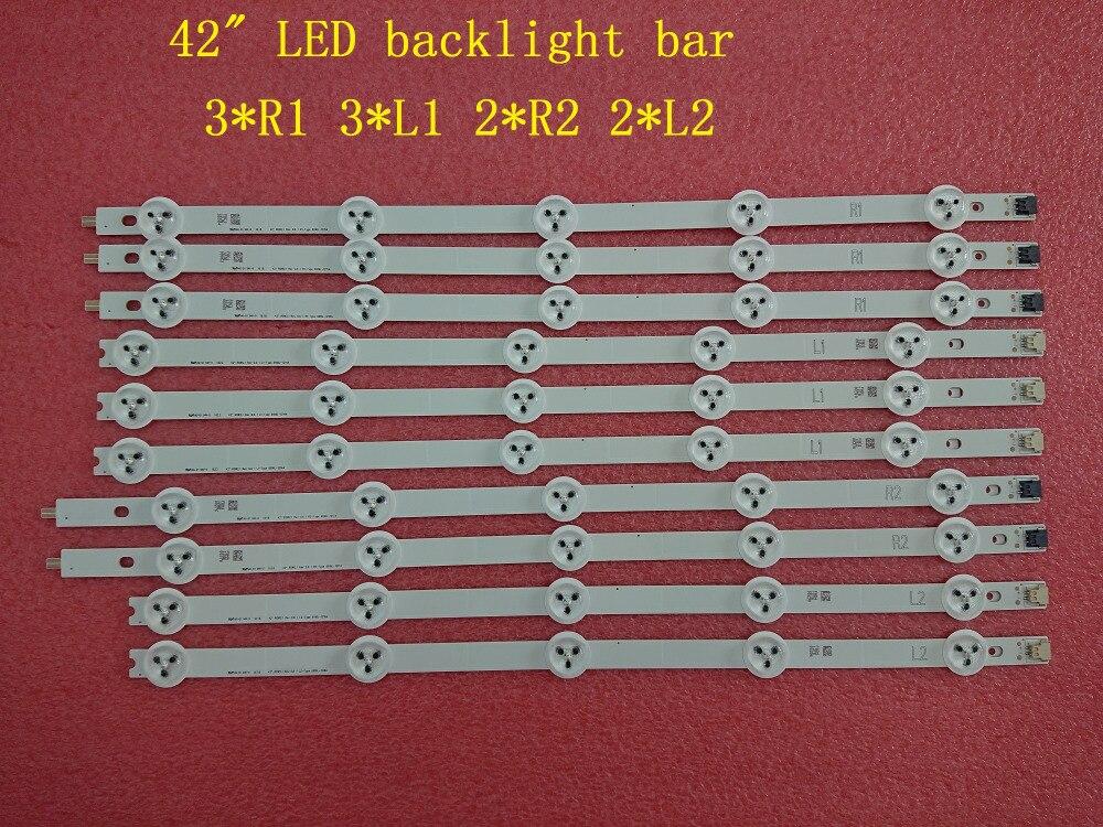 (neue Original) 10 Teile/satz Led-hintergrundbeleuchtung Streifen Für Lg 42la620s 42ln570s 6916l-1214a 6916l-1215a 6916l-1216a 6916l-1217a ZuverläSsige Leistung