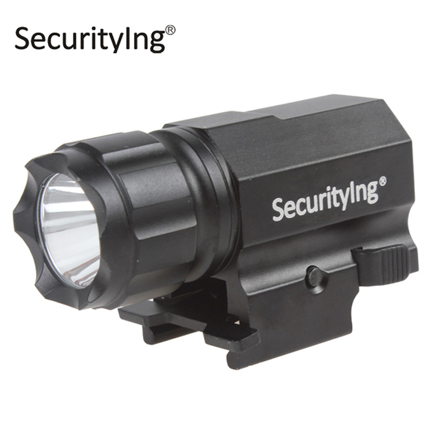 SecurityIng P05 Мини Портативный LED Тактический Пистолет Фонарик Факел 600 Люмен Алюминиевый Открытый XP-G R5 LED Вспышка Света Лампы