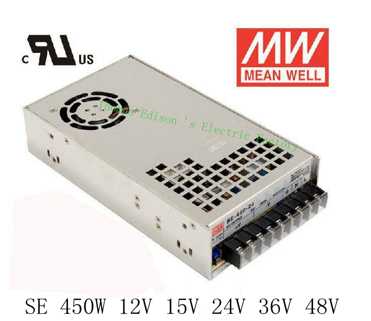 Original MEAN WELL power suply unit ac to dc power supply 450W 12V 37.5A 15V 30A 24V 18.8A 36V 12.5A 48V 9.4A MEANWELL 1pcs 60w 12v 5a power supply ac to dc power suply 12v 60w power supply 100 240vac 111 78 36mm