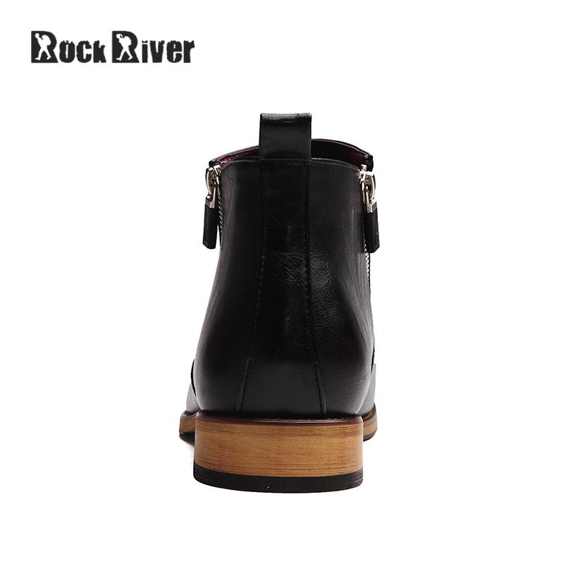 2272b965613 US $37.36 41% OFF|2018 Kanye West Point Toe Chelsea Boots Men Genuine  Leather Men Boots Ankle Zipper Mens Boots Fashion Bota Masculina-in Chelsea  ...