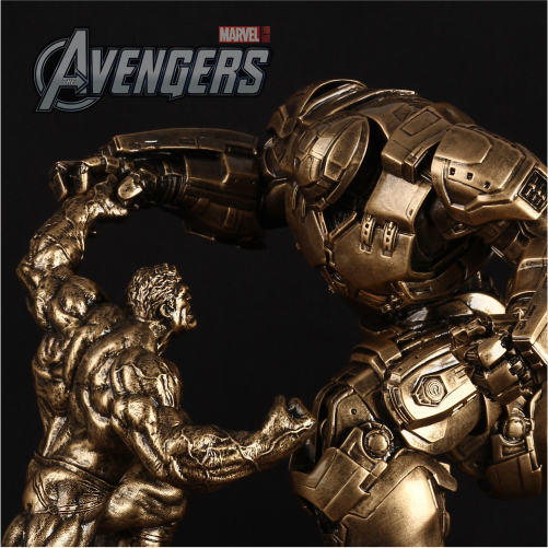 31Cm Avengers Alliance Iron Man 2 MK44 Pk Hulk Armor Statue 1/10 Action Toy Figures Model Furnishing Articles For Birthday Gift