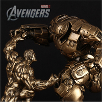 31Cm Avengers Alliance Iron Man 2 MK44 Pk Hulk Armor Statue 1/10 Action Toy Figures Model Furnishing Articles For Birthday Gift