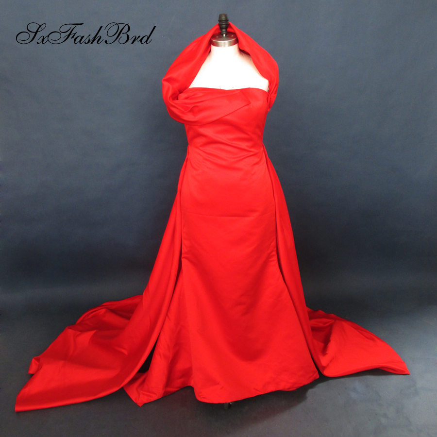 Real photos inspired by heidi klum evening dresses red - Designer red carpet dresses ...