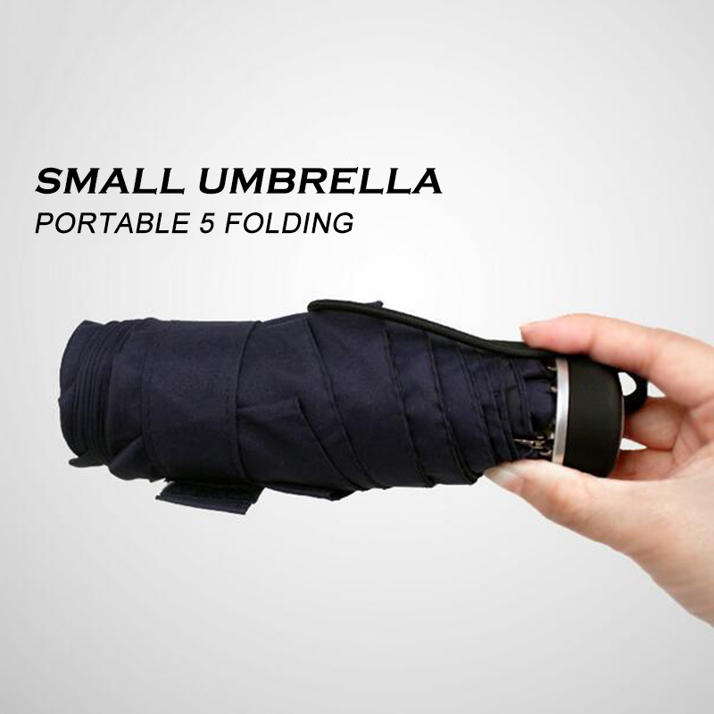 Ultra small five folding umbrella rain men women quality simple ultra small five folding umbrella rain men women quality simple sunny and rainy umbrellas windproof 2 color portable parasol fandeluxe Images