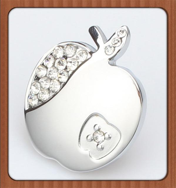 Apfelform Kristall Möbel Griff Kommode Knob Bling Dekorative Silber ...