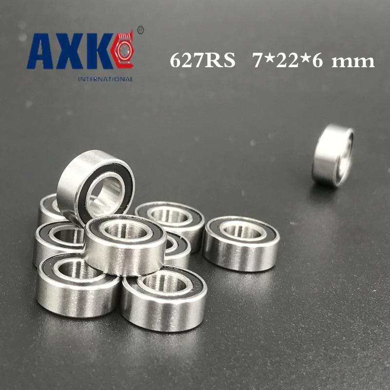627RS Bearing ABEC-5 (10PCS) 7*22*6 mm Miniature Sealed 627-2RS Ball Bearings 627 2RS 1pcs 71901 71901cd p4 7901 12x24x6 mochu thin walled miniature angular contact bearings speed spindle bearings cnc abec 7