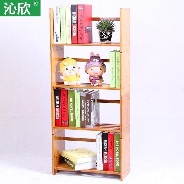 Goedkope bamboe houten tafel, gratis montage boekenkast plank ...