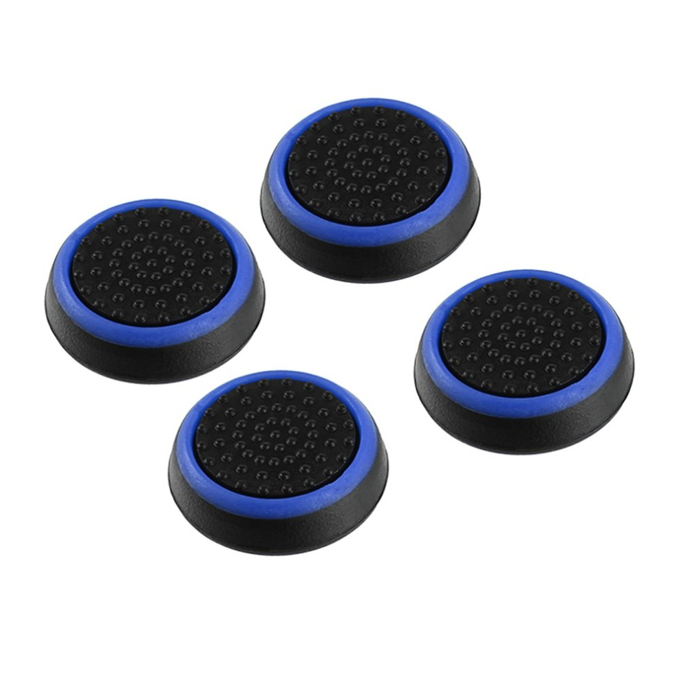 Electric Vehicle Parts Portable 4pcs Silicone Anti-slip Striped Gamepad Keycap Controller Thumb Grips Protective Cover For Ps3/4 For X Box One/360 Accessories