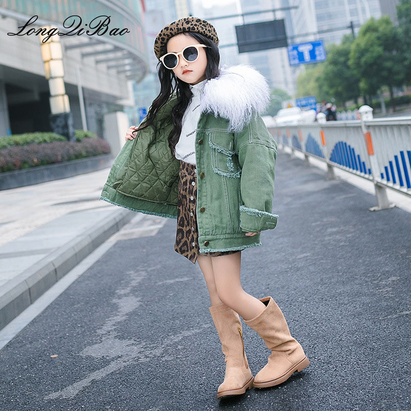 Girls quilted jacket 2018 autumn and winter new big children Korean version of the foreign thickening winter girls girls tide Girls quilted jacket 2018 autumn and winter new big children Korean version of the foreign thickening winter girls girls tide
