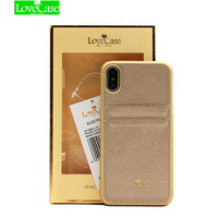 LoveCase Slim PU Leather Case For IPhone X Case Back Cover Protective Dual Card Slots Wallet