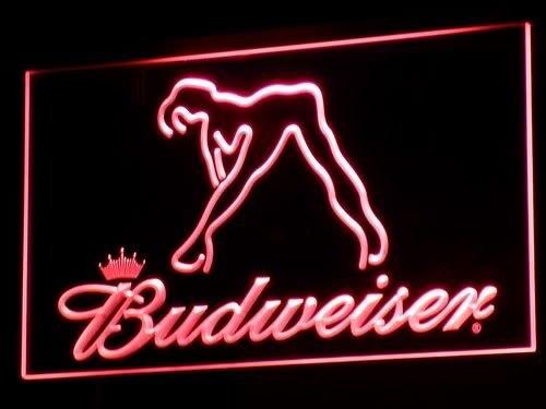 A133 Budweiser Danseur Exotique Stripper Bar led enseignes néons avec On/Off Commutateur 20 + Couleurs 5 Tailles à choisir envoyé dans 24 heures