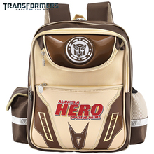 TRANSFORMERS school bags boys backpack children for Kids Cartoon style light weight LED is safer at night