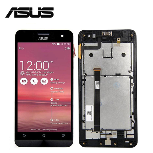 Srjtek For Asus Zenfone 5 A500CG A500KL A501CG T00J LCD Touch Screen Digitizer Glass With Frame 100% Tested 3M Tape+Tools
