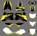0359 Yellow & White  New Style TEAM GRAPHICS & BACKGROUNDS  DECALS Stickers FOR  DRZ400 DRZ 400 2000-2012