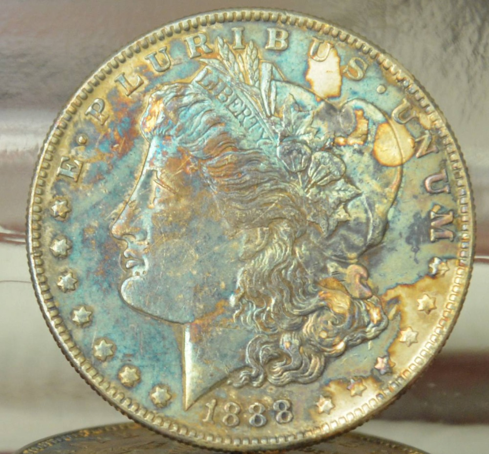 United States 1888 90% Silver Morgan One Dollar Replica Coins Can Choose Many Kinds to Make Old Style