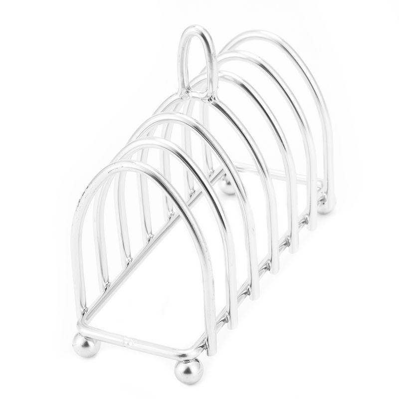 TOP!-High Quality Stainless steel bread rack.6 Slice Toast Rack