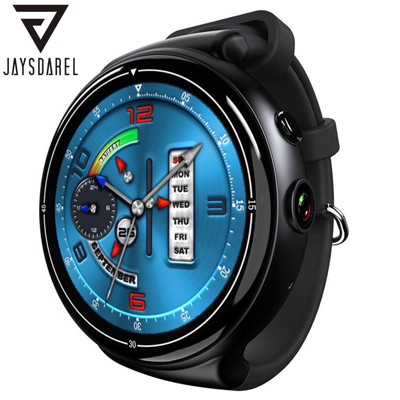 JAYSDAREL I4 AIR Android 5.1 OS Heart Rate Monitor Smart Watch Phone 2G+16G Camera WIFI GPS Smart Wristwatch for Android IOS kinco mt6572a 512m 4g gps ips 1 3 inch android 4 4 smart phone watch heart rate monitor steps anti lost bracelet for ios android
