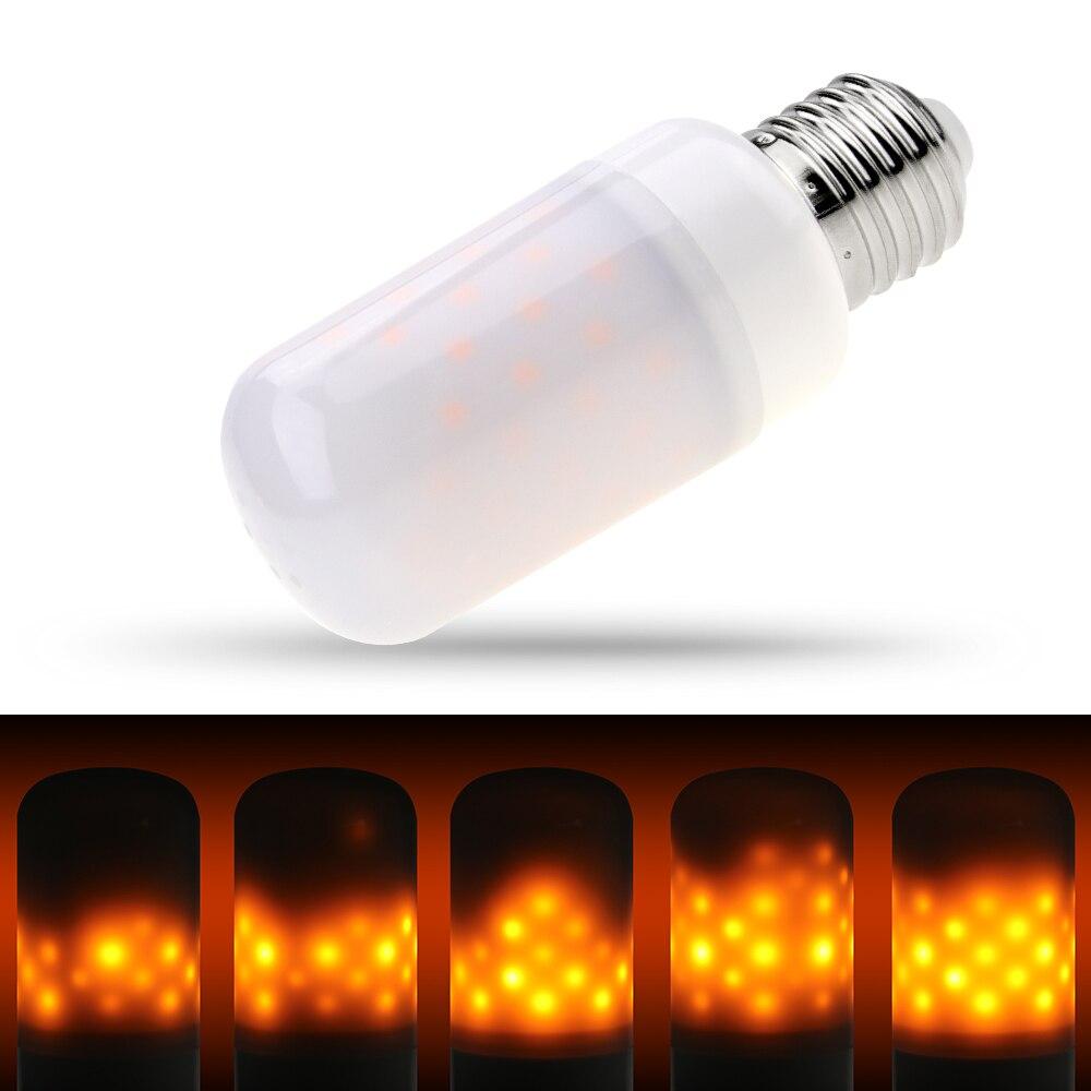 E27 Led E14 эффект пламени лампы E26 220 В огонь стряхивая светодиодные лампы 110 В 2835 атмосферу декоративные светодиодные эмуляции Винтаж Ampul