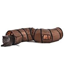 S Shape Funny Cat Tunnel Play Long 1.2M Foldable 2 Holes Kitten Rabbits Pet Toy Bulk Tubes