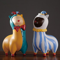 European Style Q Version Circus Goat Simulation Resin Animal Home Decorations Creative Children's Bedroom Cute Ornaments X1084