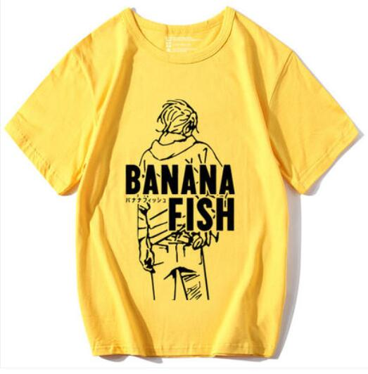 Anime  BANANA FISH Cosplay T-shirt Ash Lynx  Men T Shirt Terylene Short Sleeve Tops Tee