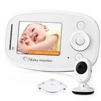 2 4 Inch TFT LCD IR Night Vision Wireless Intercom Digital Baby Monitor